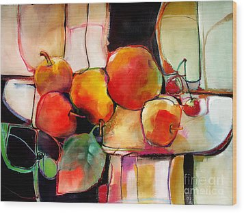 Fruit On A Dish Wood Print