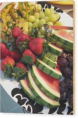 Fruit Plate Wood Print