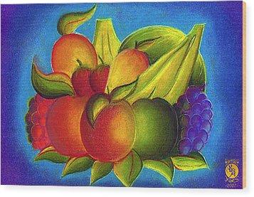 Fruit Wood Print by Richard Bantigue