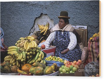 Fruit Seller Wood Print by James Brunker