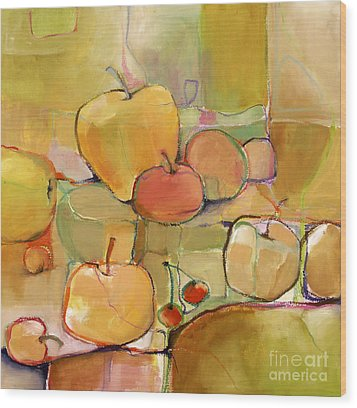 Wood Print featuring the painting Fruit Still Life by Michelle Abrams