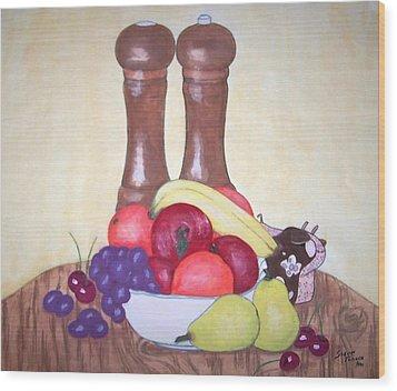 Fruit Table Wood Print