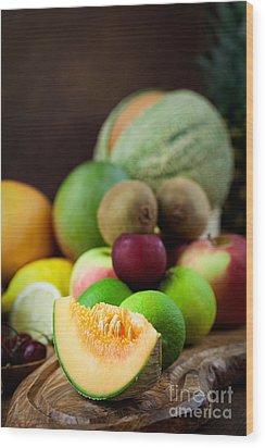 Fruit Variety Wood Print by Mythja  Photography