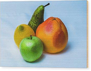 Fruits Wood Print by Alexander Senin