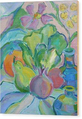 Fruits And Veggies  Wood Print by Brenda Ruark