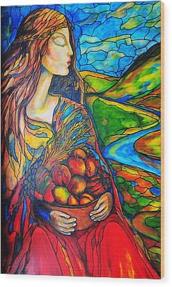Wood Print featuring the painting Fruits Of Labor by Rae Chichilnitsky