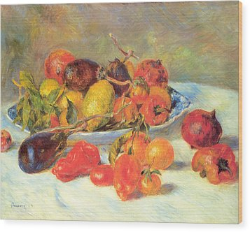 Wood Print featuring the painting Fruits Of The Midi  by Renoir