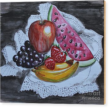 Fruits  Wood Print by Saranya Haridasan