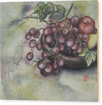 Fruits Wood Print by Tomoko Koyama