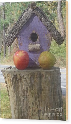 Fruity Home? Wood Print by Christina Verdgeline