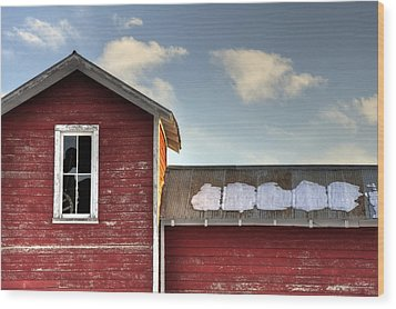 Ft Collins Barn 13493 Wood Print by Jerry Sodorff