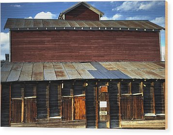 Ft Collins Barn 13553 Wood Print by Jerry Sodorff