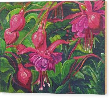 Fuchsia Fantastic Wood Print