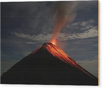 Fuego On A Moonlit Night Wood Print by Kevin Sebold
