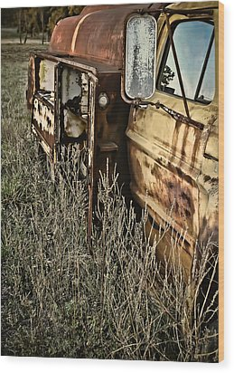 Wood Print featuring the photograph Fuel Oil Truck by Greg Jackson