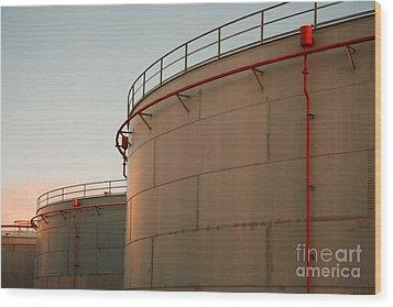 Fuel Tanks Wood Print by Gaspar Avila
