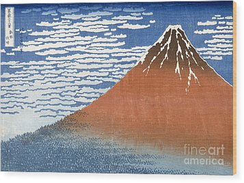 Fuji Mountains In Clear Weather Wood Print by Hokusai