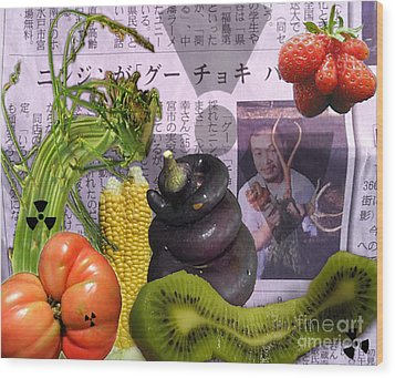 Fukushima Veggies Wood Print