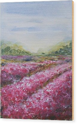 Wood Print featuring the painting Full Bloom by Jane  See