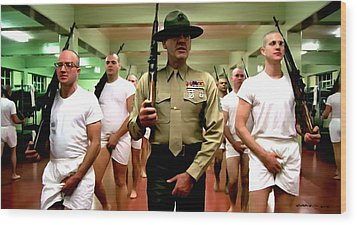 Full Metal Jacket 1 Stanley Kubrick 1979 Wood Print
