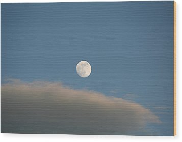 Wood Print featuring the photograph Full Moon by David S Reynolds