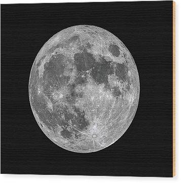 Full Moon Wood Print by Dennis Bucklin