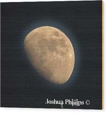 Full Moon Wood Print by Joshua Phillips