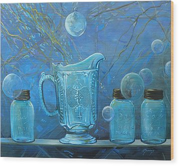 Full Moon Light Wood Print by Lynne Summers