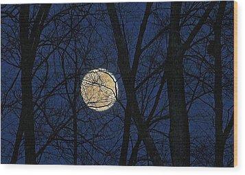 Full Moon March 15 2014 Wood Print
