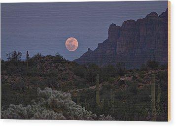 Full Moon Rising  Wood Print by Saija  Lehtonen