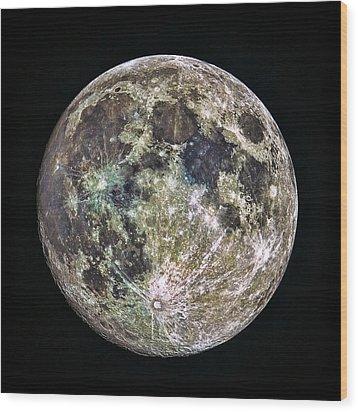 Full Moon Wood Print by Todd Ryburn