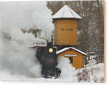 Full Steam Ahead Wood Print by Ken Smith