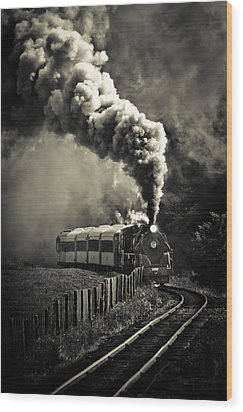 Full Steam Ahead Wood Print by Phil 'motography' Clark