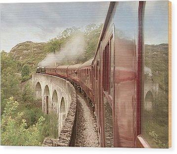 Full Steam Ahead Wood Print by Roy  McPeak