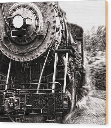 Full Steam Wood Print by Olivier Le Queinec