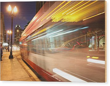 Wood Print featuring the photograph Fun At The Bus Stop by Nathan Rupert