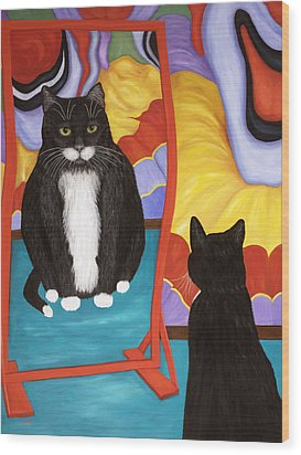Fun House Fat Cat Wood Print