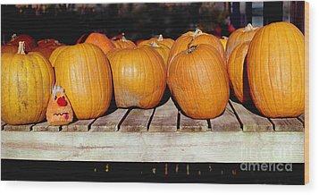 Wood Print featuring the photograph Fun Pumpkin by Tom Brickhouse