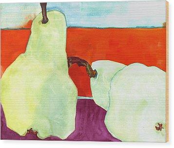 Fundamental Pears Still Life Wood Print by Blenda Studio