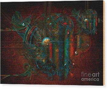 Funfair Wood Print by Alexa Szlavics
