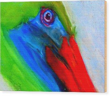 Funky Colorful Pelican Art Prints Wood Print