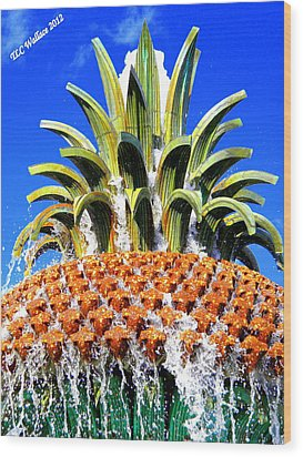 Funky Fountain Wood Print by Tammy Wallace