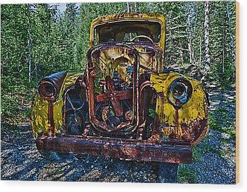 Funky Truck Wood Print by Craig Brown