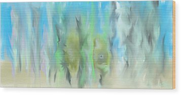 Wood Print featuring the painting Funny Fish by Jessica Wright