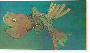 Funny Fish Wood Print