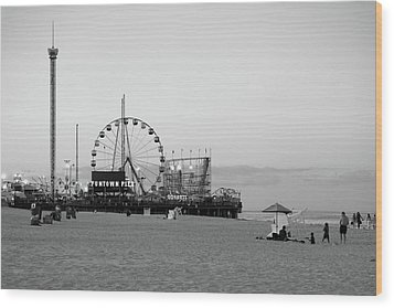 Funtown Pier - Jersey Shore Wood Print