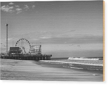 Funtown Pier Seaside Heights New Jersey  Wood Print
