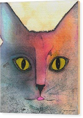 Fur Friends Series - Abby Wood Print by Moon Stumpp