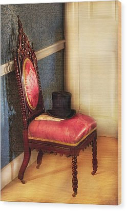 Furniture - Chair - Ready For The Ball Wood Print by Mike Savad
