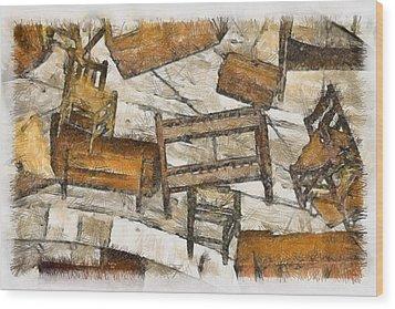 Furniture Wood Print by Trish Tritz